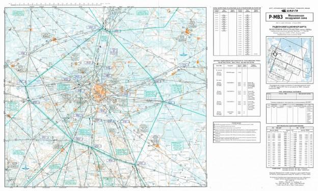 Радионавигационная карта московской воздушной зоны (Р-МВЗ) от 10 июля 2003 года