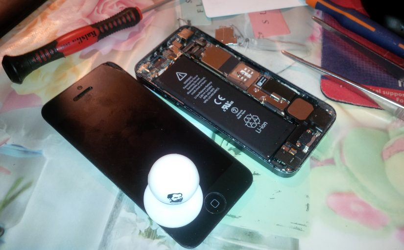 Первый раз в жизни разобрал айфон.